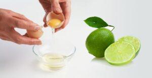 lòng trắng trứng và chanh