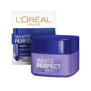 Kem dưỡng trắng da cho da dầu ban đêm L'Oreal Paris White Perfect Night Cream